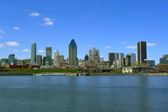 Montreal. Panoramic view of montreal taken from lachine canal Royalty Free Stock Image