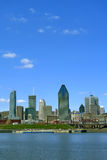 Montreal. Panoramic view of montreal taken from lachine canal Royalty Free Stock Photography