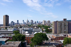 Montreal. View by a Jacques-Cartier bridge in  # 7 Royalty Free Stock Image