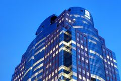 Montreal. Astral media office building at night Royalty Free Stock Image