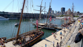Montreal. The tall ships of the quay in Montreal, Quebec Stock Image