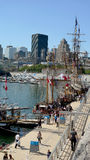 Montreal. The tall ships of the quay in Montreal, Quebec Stock Photography