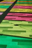 Montreal. The colored floor in Palais des Congrès, Montreal Royalty Free Stock Photo