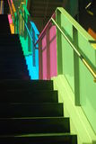 Montreal. The colored stairs in Palais des Congrès, Montreal Royalty Free Stock Photos