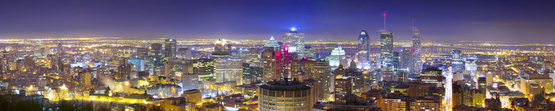 Montreal. Panoramic view of montreal from mont-royal stock photography
