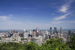 Montreal. Scenic view of Montreal from Mount Royal Stock Images