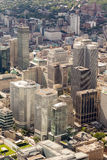 Montreal aerial view royalty free stock photos