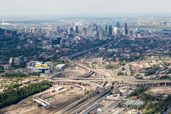 Montreal aerial view Royalty Free Stock Images