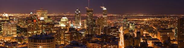 Montreal alla notte fotografia stock libera da diritti