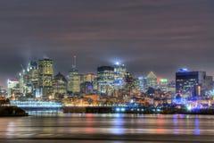 Montreal alla notte Fotografia Stock
