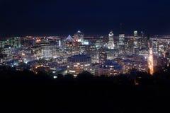 Montreal alla notte Immagini Stock Libere da Diritti