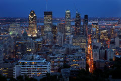 Montreal alla notte Fotografie Stock Libere da Diritti