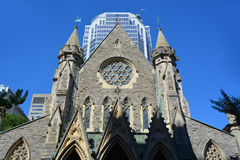 Montreal Anglican Christ Church Cathedral Stock Photos
