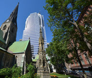 Montreal Anglican Christ Church Cathedral Stock Photo
