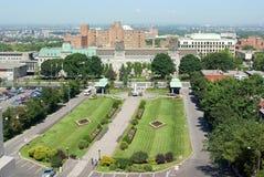 Montreal-Ansicht von der Montierung königlicher Str.-Joseph stockfotografie