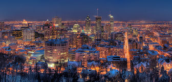 Montreal At Night Royalty Free Stock Photo