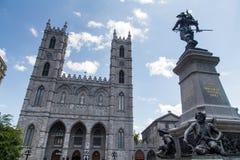 Montreal, basilica di Notre-Dame fotografia stock
