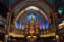 Montreal Bazylika Notre-Dame obrazy royalty free