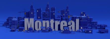 Montreal-Beschriftung, Stadt der Wiedergabe 3d Lizenzfreie Stockfotos