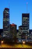 Montreal bij nacht stock foto's