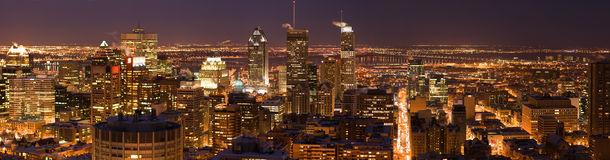 Montreal bij Nacht Royalty-vrije Stock Foto