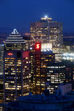Montreal bij Nacht Stock Fotografie