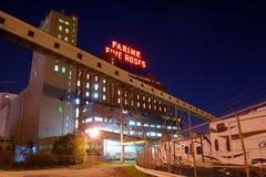Montreal bij nacht Farine Vijf Rozen Stock Afbeelding