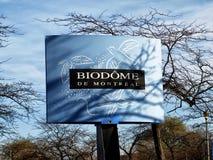 Montreal Biodome tecken fotografering för bildbyråer