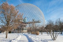 Montreal Biosphere in Parc Jean Drapeau stock images