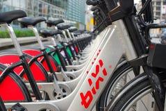 Montreal bixi. Stand close up Stock Images
