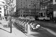 Montreal-bixi Fahrräder Lizenzfreie Stockfotos