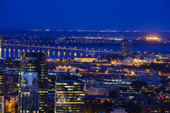 Montreal blue hour Stock Photos