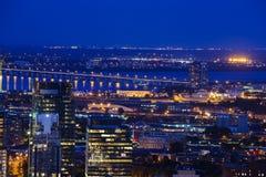 Montreal blue hour Stock Photos