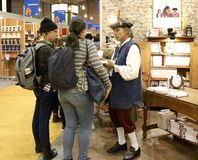 Montreal Book Fair. History books at Montreal Book Fair on Bonaventure Place this week-end Royalty Free Stock Images