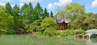 Montreal botanical garden. MONTREAL CANADA JUNE 9 2016: Montreal botanical garden is considered to be one of the most important botanical gardens in the world Stock Photo