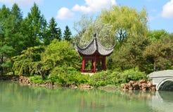 Montreal botanical garden Stock Photos