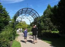 Montreal Botanical Garden visitors Stock Image