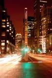 Montreal céntrica en la noche Fotografía de archivo