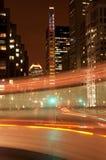 Montreal céntrica en la noche Fotos de archivo