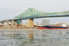 Montreal, CA - 5 February 2017: Montreal Jacques Cartier Bridge Stock Photography