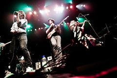 MONTREAL, CANADÁ - 23 de mayo de 2013: Ra Ra Riot en concierto en la metrópoli. Fotografía de archivo libre de regalías