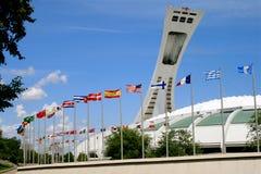 Montreal, Canadá - parque olímpico Imágenes de archivo libres de regalías