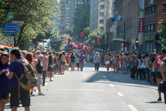 MONTREAL, CANADA - AUGUST, 18 2013 - Gay Pride parade Stock Photo