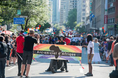 MONTREAL, CANADA - AUGUST, 18 2013 - Gay Pride parade Stock Images
