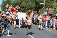 MONTREAL, CANADA - AUGUST, 18 2013 - Gay Pride parade Stock Photography