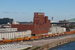 MONTREAL, CANADA -  August 24, 2013: The Molson Brewery at the O Royalty Free Stock Image