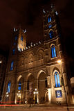 Notre Dame Cathedral by night in Montreal, Canada Royalty Free Stock Image