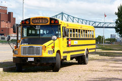 School bus in Montreal Royalty Free Stock Photography