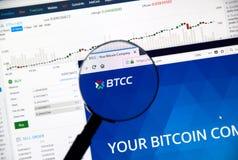 BTCC cryptocurrency exchange Stock Photography