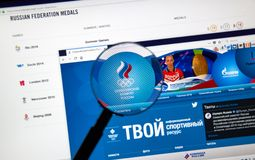 Russian Olympic Committee web page Royalty Free Stock Photography